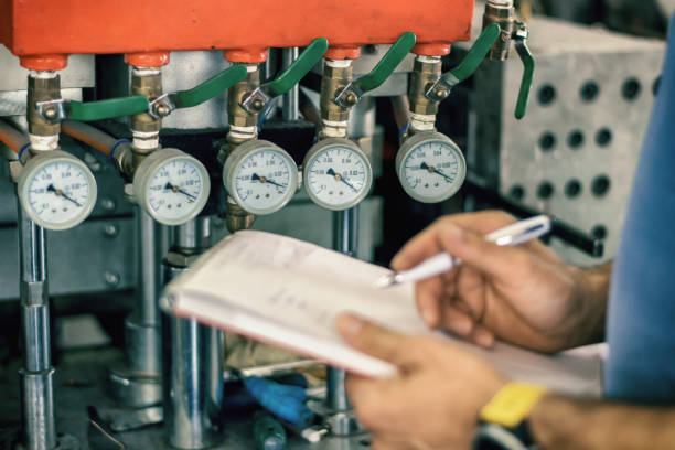 Pressure device for industry system Industrial quality control compressor stock pictures, royalty-free photos & images