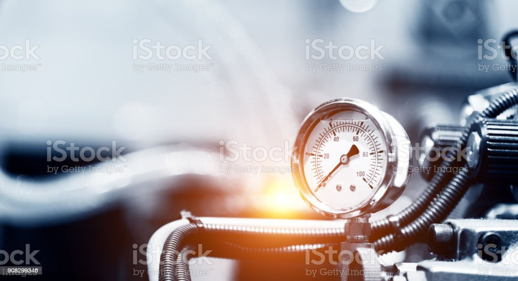 Pressure device for industry system stock photo
