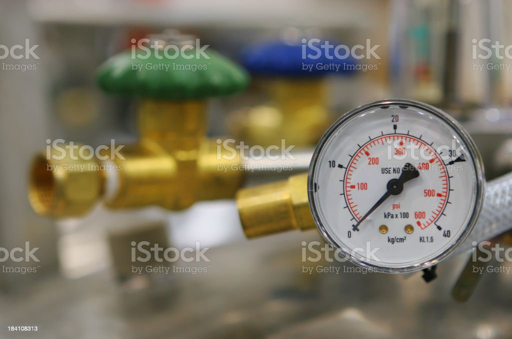 Pressure gauge Equipment stock photo