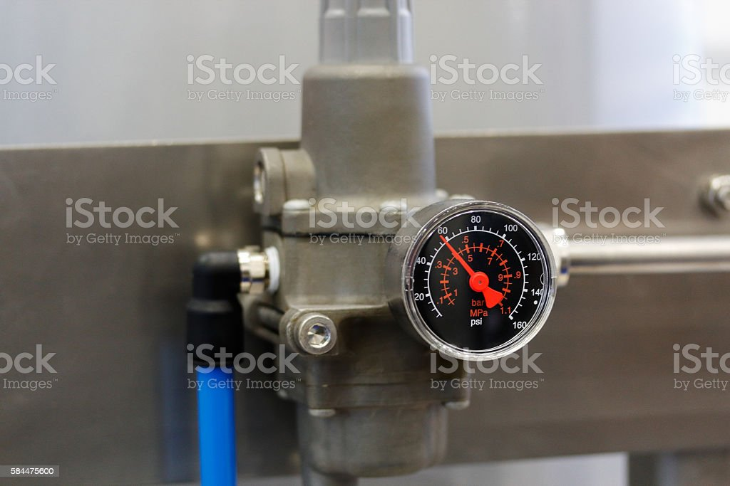 pressure gauge or manometer stock photo