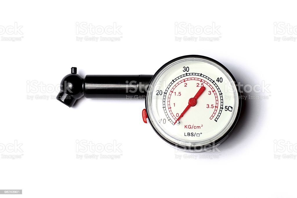 Pressure gauge royalty-free stock photo