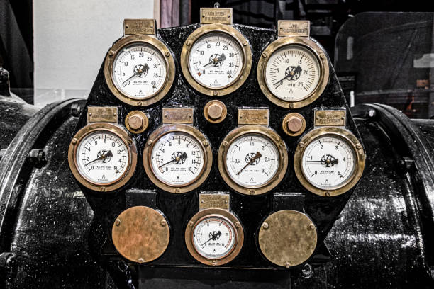 Pressure gauges stock photo