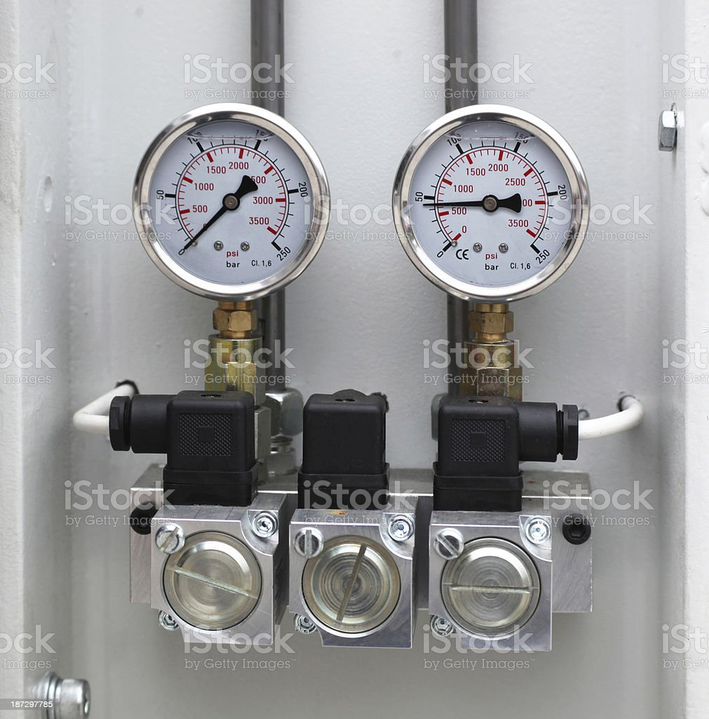 Pressure Gauges royalty-free stock photo