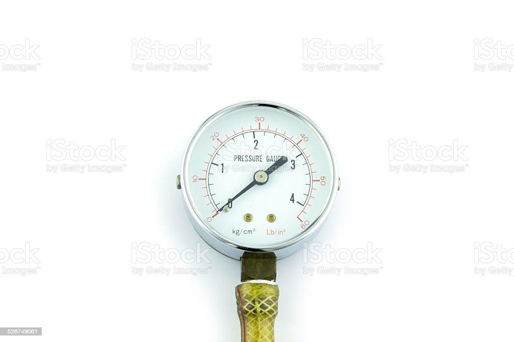 Pressure guage stock photo