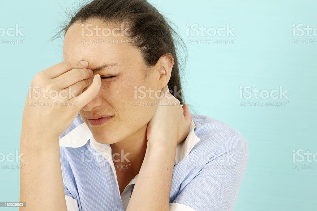 Pressure is getting to me Woman getting stressed 20-24 Years Stock Photo