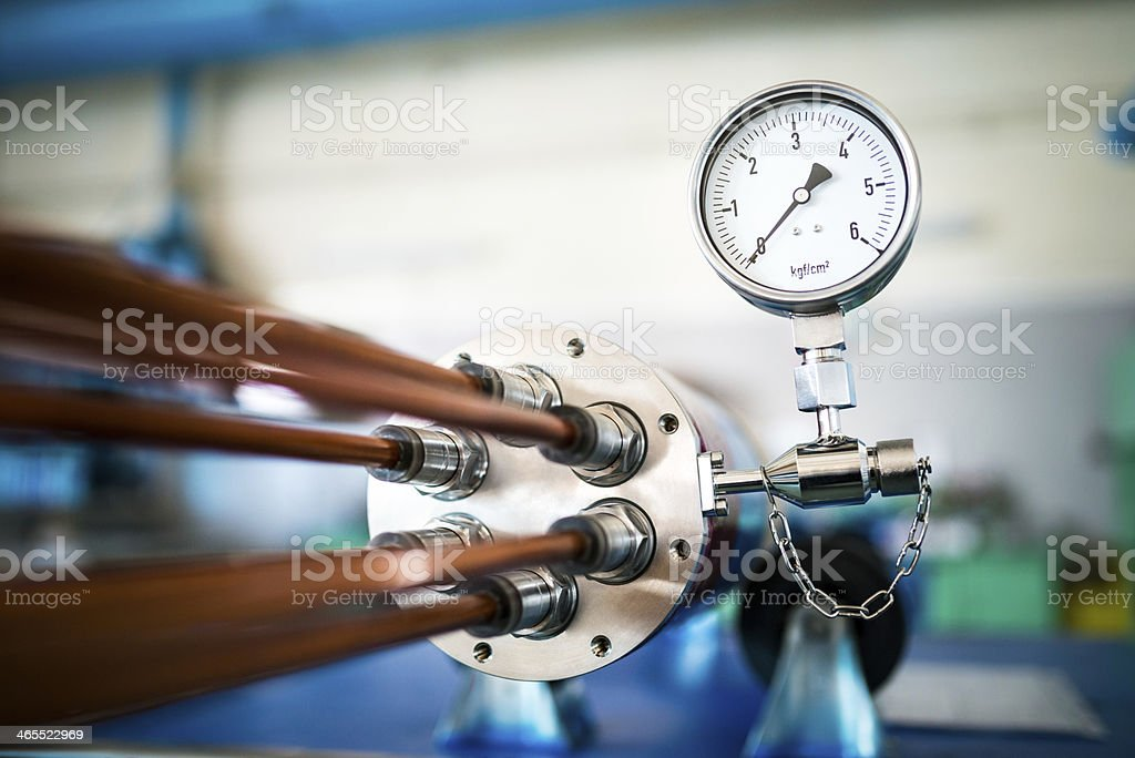 Pressure measurement stock photo