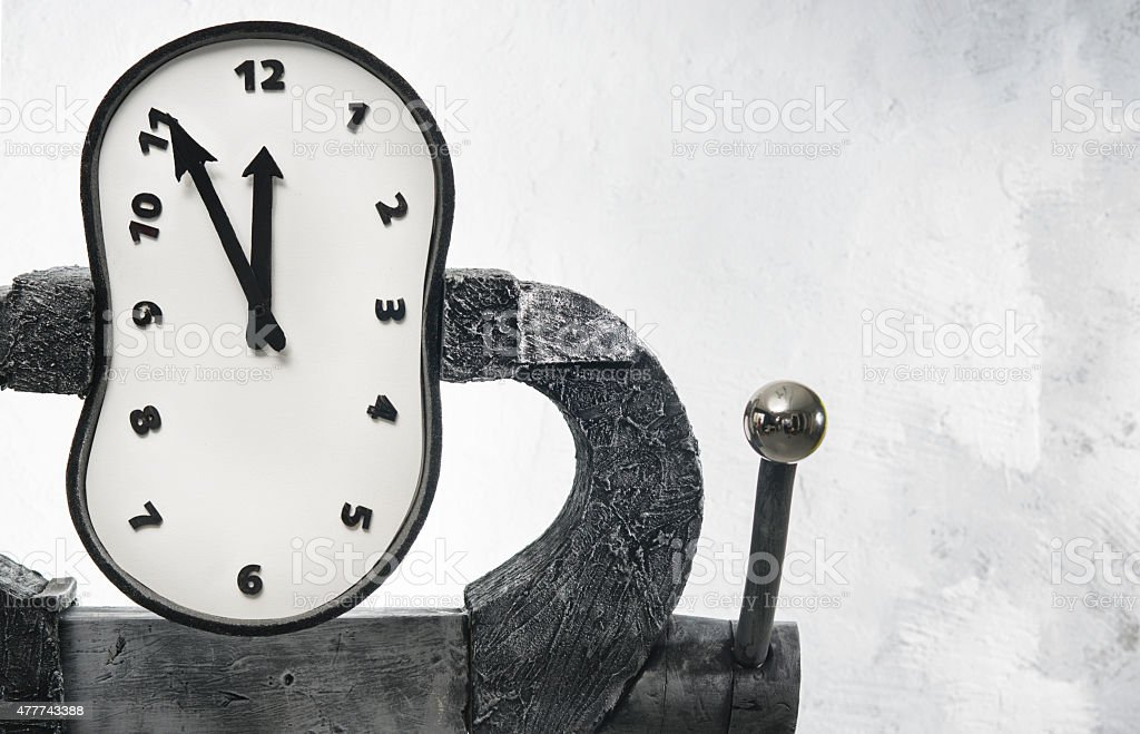 Pressure on a time stock photo