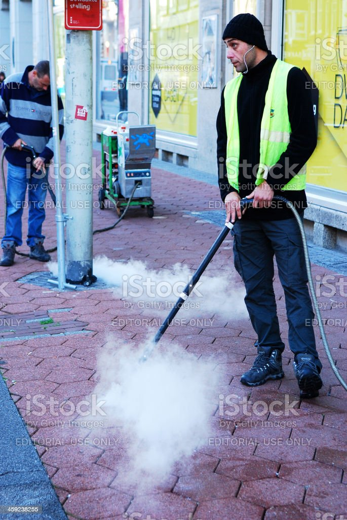 Pressure on chewing gum. stock photo