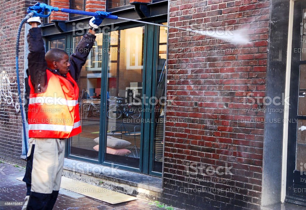 Pressure on graffiti stock photo