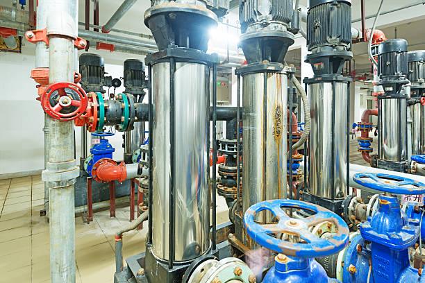 Druck pump für fließendes Wasser in einem Gebäude – Foto