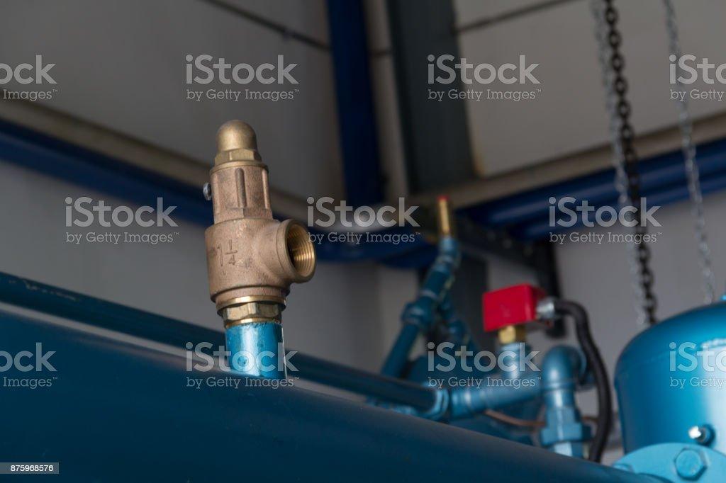 Pressure safety Valves. stock photo