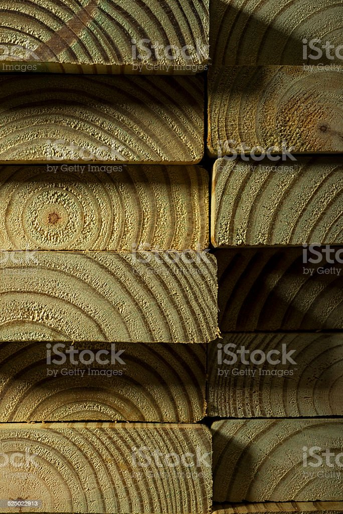 Pressure Treated Wood stock photo