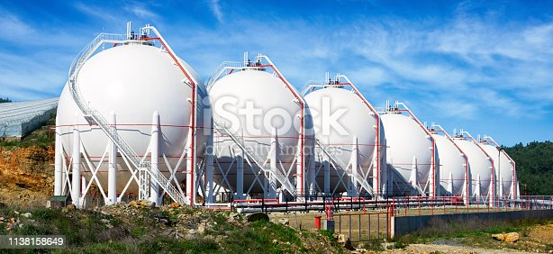 Pressurized Gas Tanks in a row