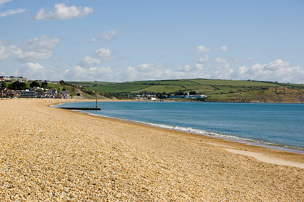 preston beach, weymouth, dorset - weymouth stock photos and pictures
