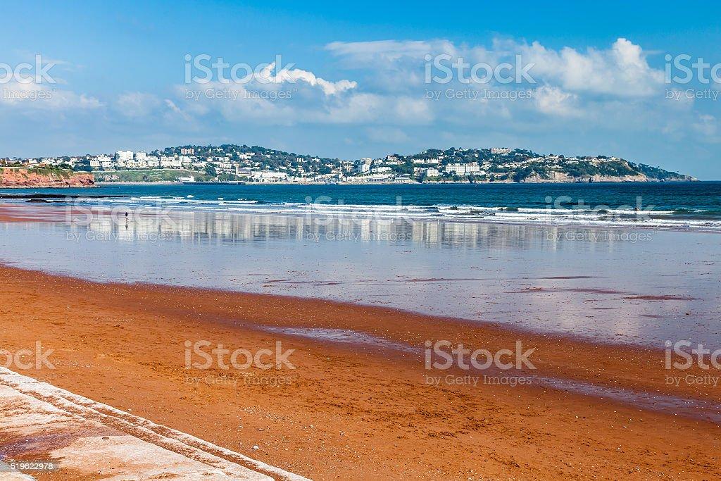 Preston Sands Beach Devon England stock photo