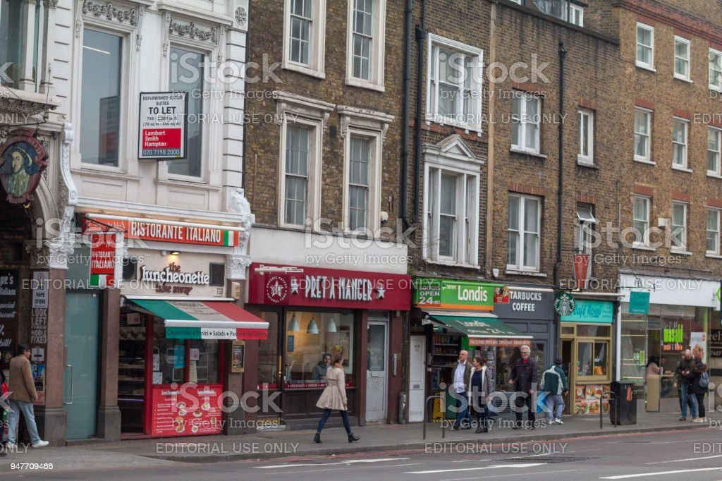 Pret a Manger on The Strand, London stock photo