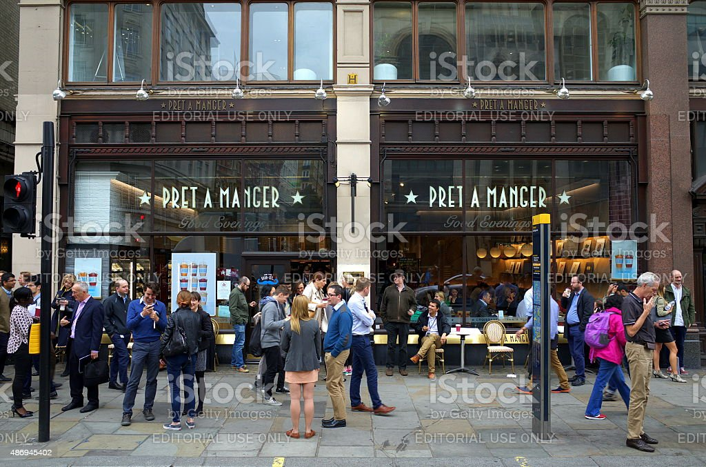 Pret A Manger Store in London stock photo