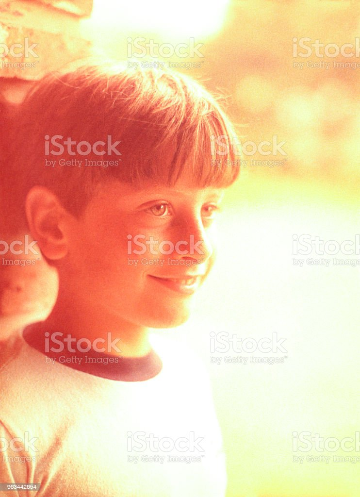 Yetmişli yıllarda gelen öncesi genç portre - Royalty-free 13 - 19 Yaş arası Stok görsel