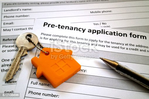 istock Pre-tenancy application form 672106696