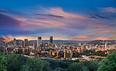 istock Pretoria city during twilight with colourful clouds 1254617769