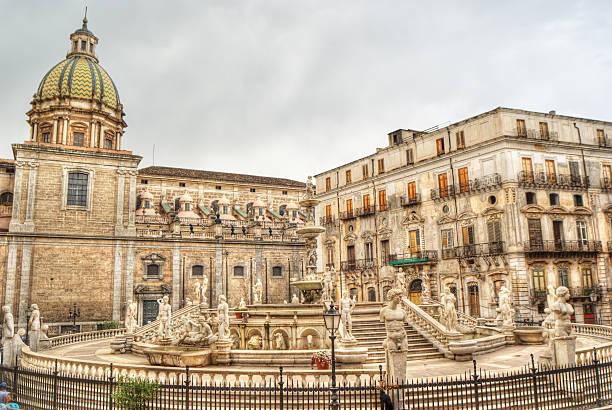 Pretoria Fontana a Palermo - foto stock