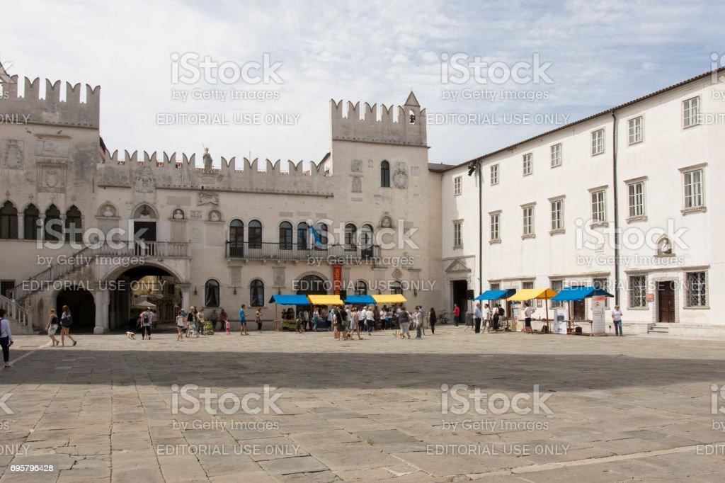 Pretorian Palace in Koper stock photo
