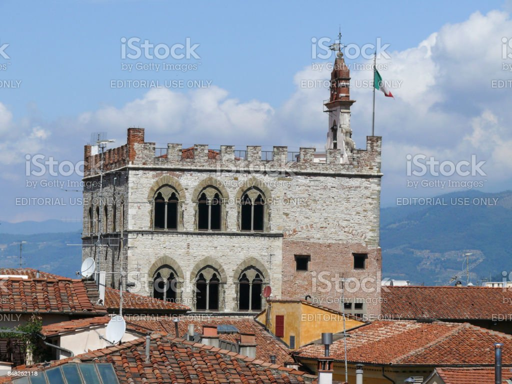 Pretorian Palace in Prato stock photo