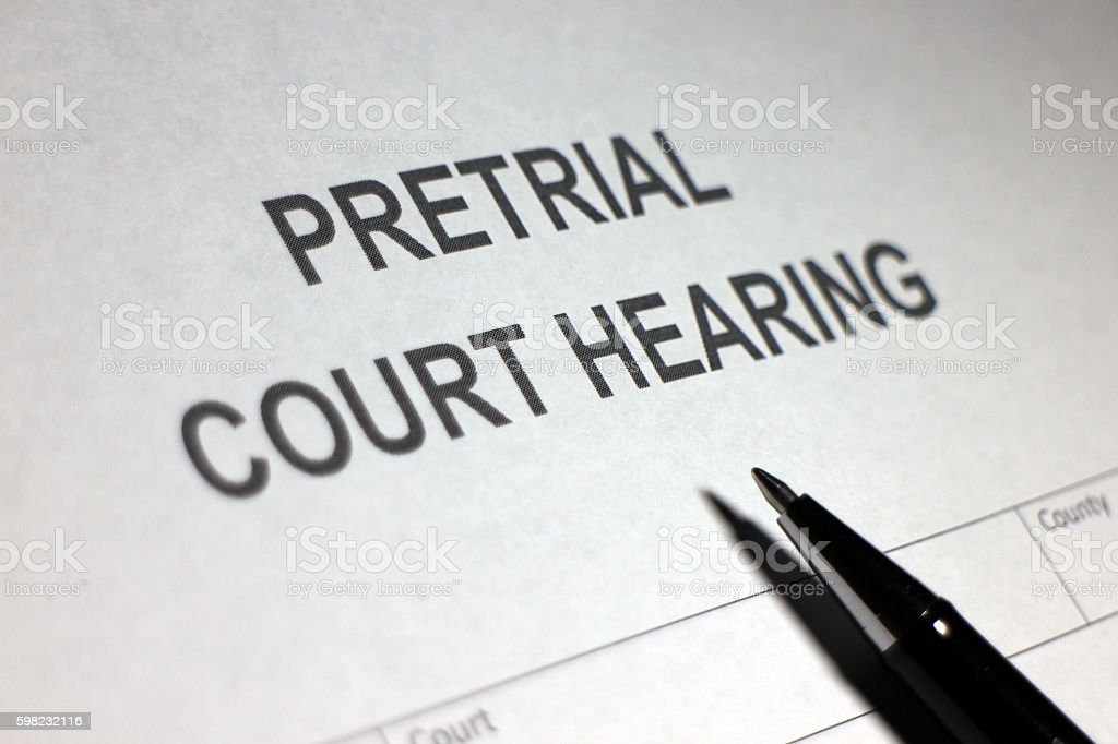 Pretrial Court Hearing foto royalty-free