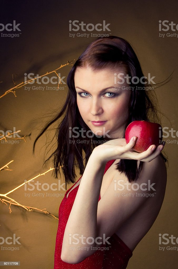 Pretty adult girl royalty-free stock photo