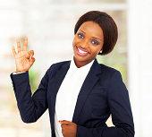 istock pretty african american businesswoman giving ok 177702841