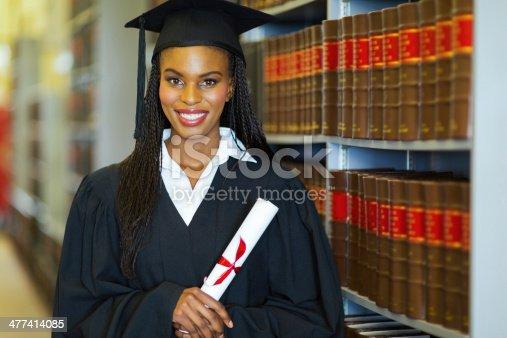 istock pretty african american college graduate 477414085