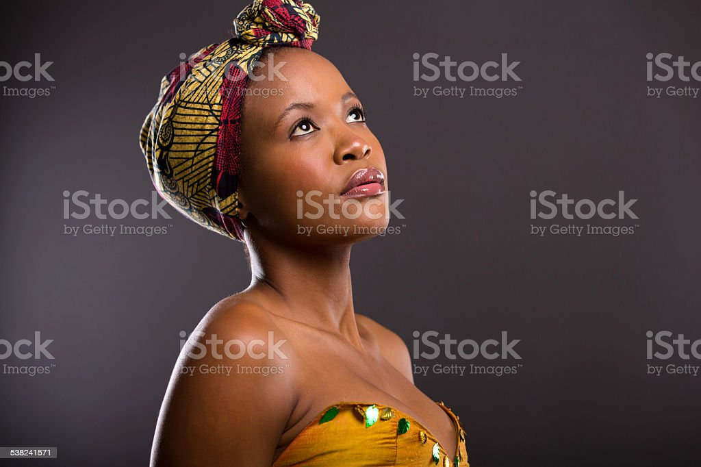 African woman pretty are black