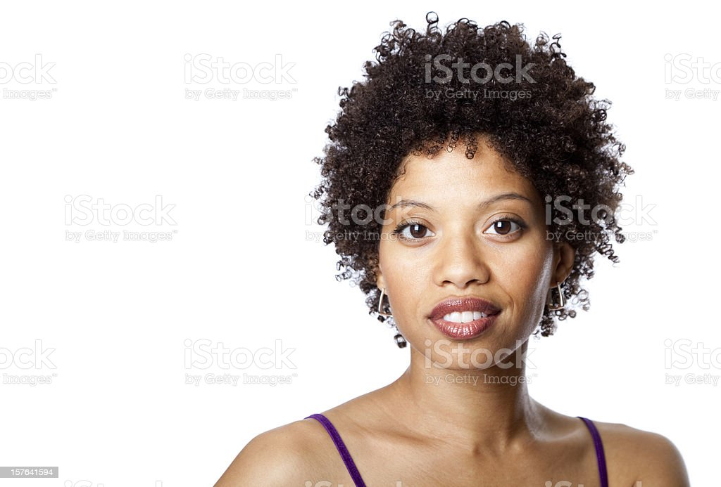 pretty African-American young woman royalty-free stock photo