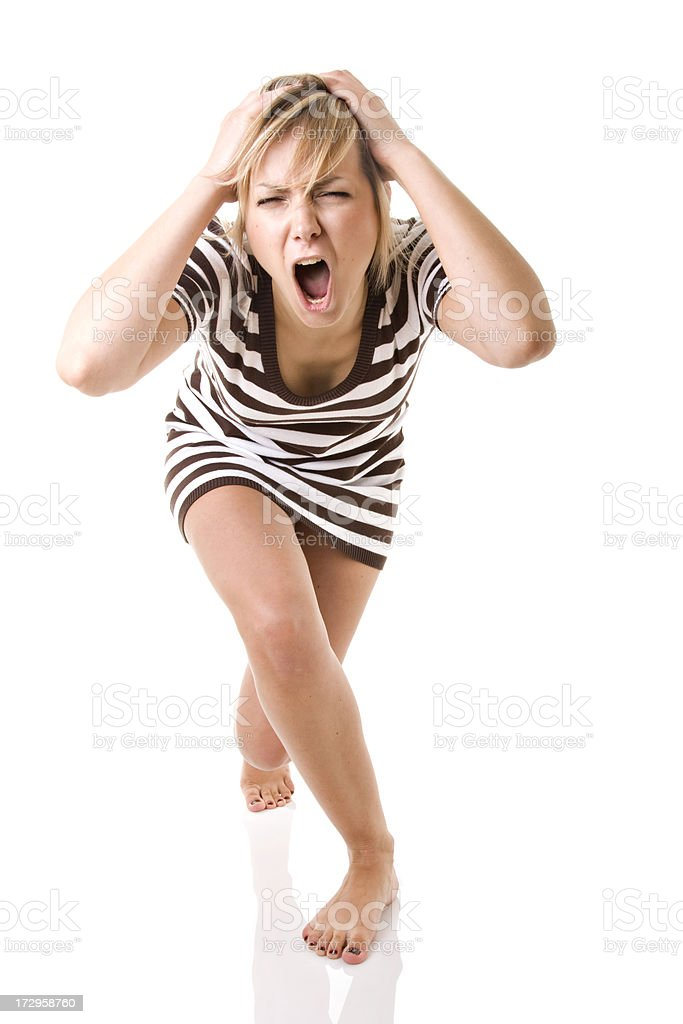 Pretty angry girl royalty-free stock photo