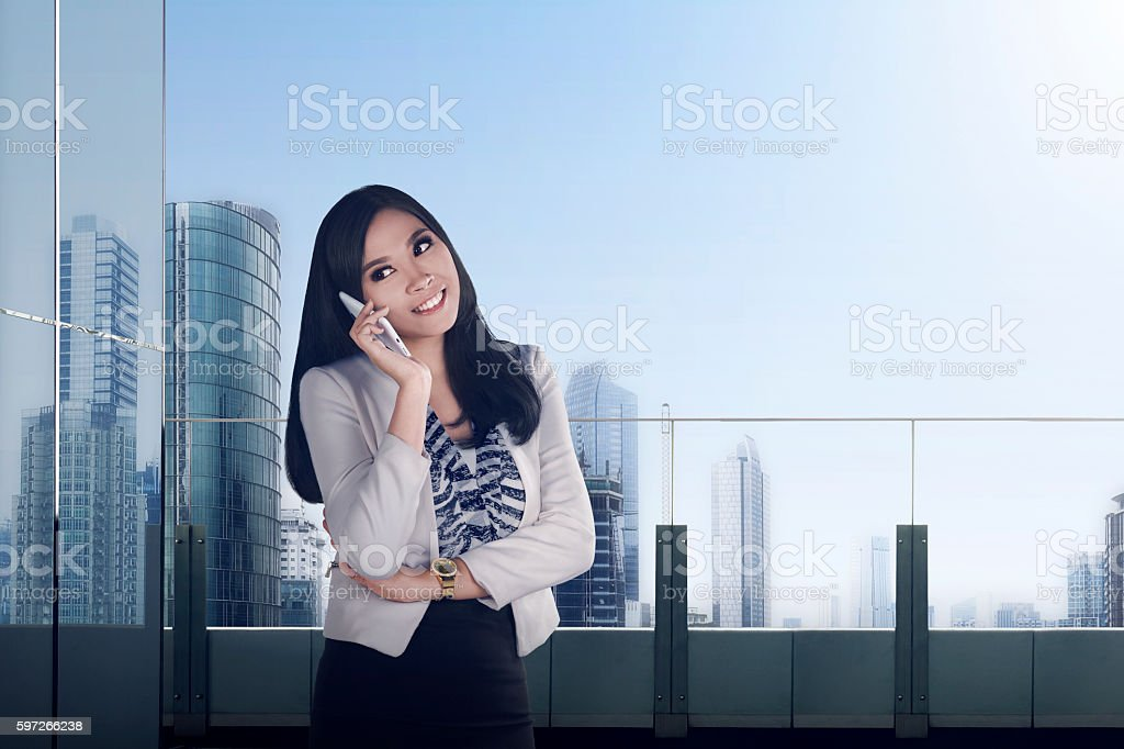 Pretty asian business woman royalty-free stock photo