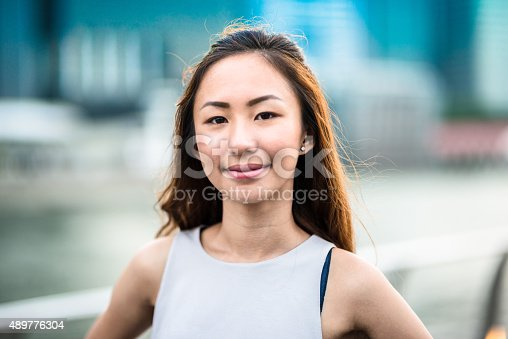 istock pretty asian woman standing outdoors 489776304