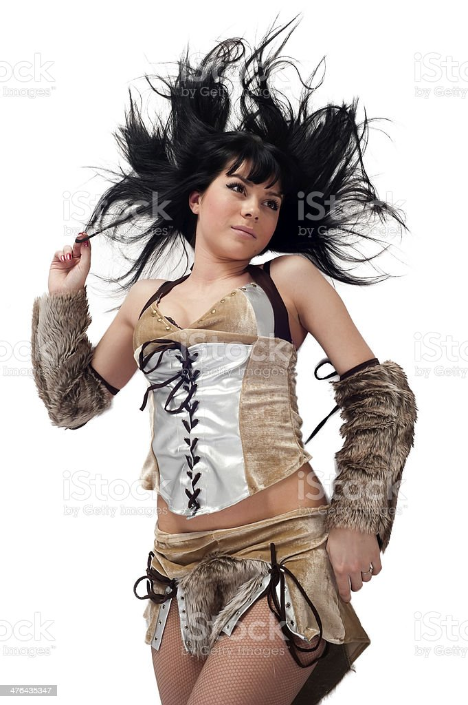 Pretty barbarian royalty-free stock photo