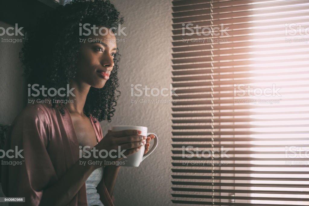 Schwarze Frau blind