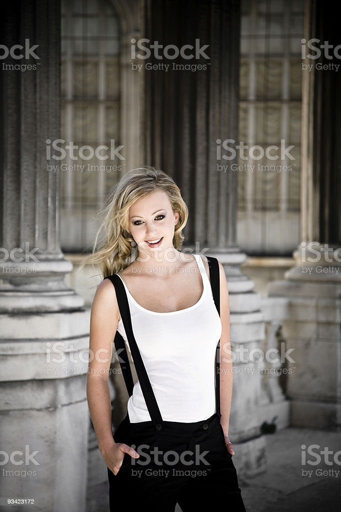 pretty blond babe stock photo