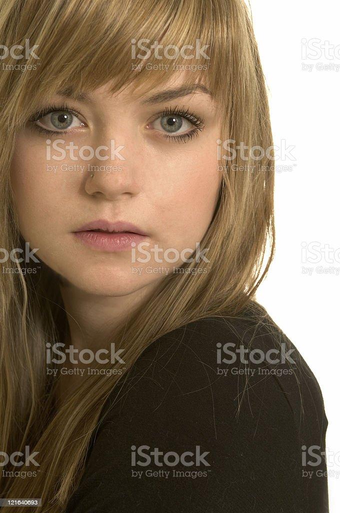 Pretty blond girl royalty-free stock photo
