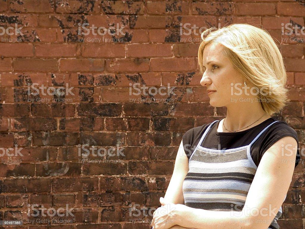 pretty Blonde portrait royalty-free stock photo