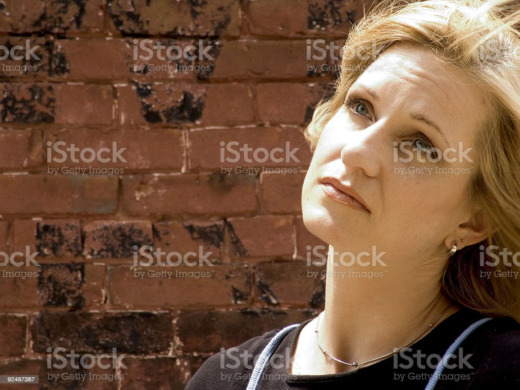 Hübsche Blonde drei Lizenzfreies stock-foto