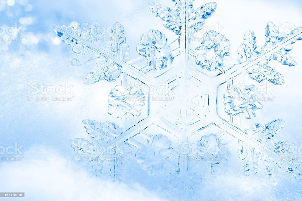 Pretty Blue Snowflake Background royalty-free stock photo