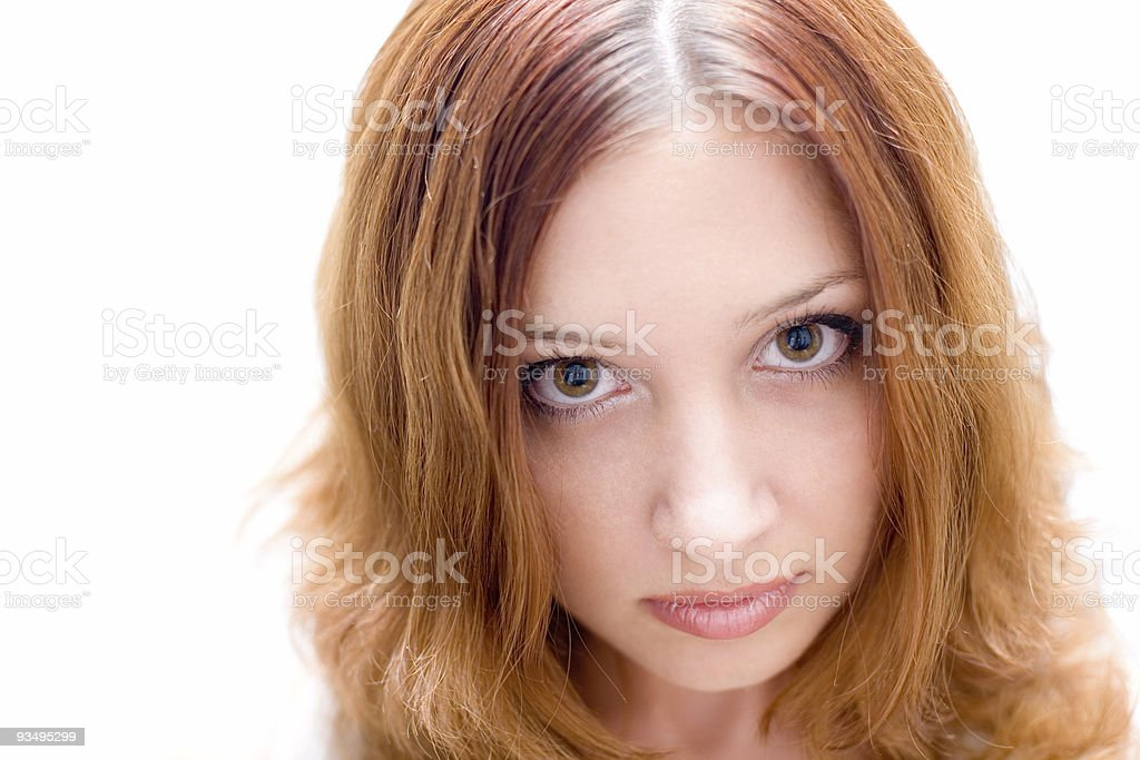 Pretty brunette #2. Close-up royalty-free stock photo