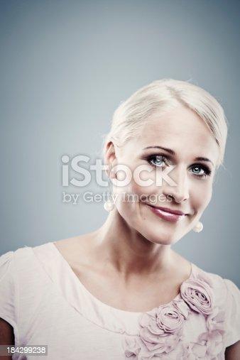 istock Pretty business woman 184299238