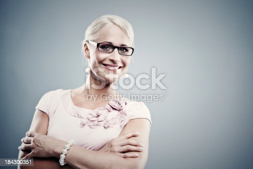 istock Pretty business woman 184300351