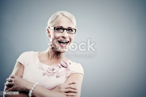 istock Pretty business woman 184301908
