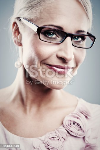 istock Pretty business woman 184302349