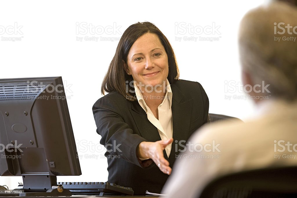 Pretty Businesswoman Shaking Hands royalty-free stock photo