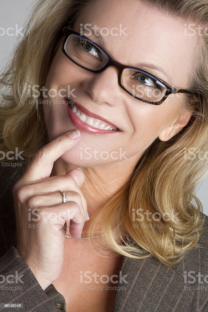Pretty Businesswoman Thinking royalty-free stock photo